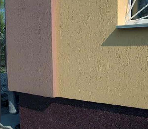 Штукатурка короед на фасаде дома
