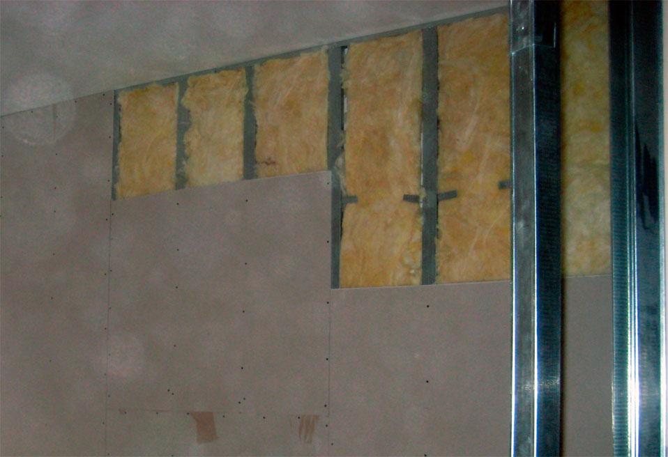 Утеплитель для перегородки - минеральная вата (стекловата)
