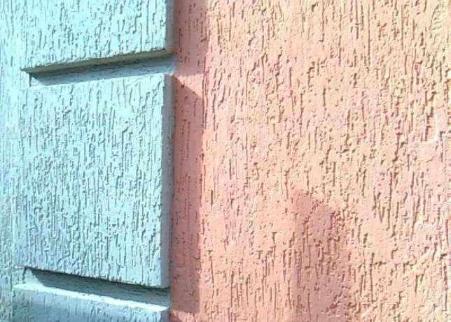 Пенопласт с отделкой фасадной штукатуркой короед