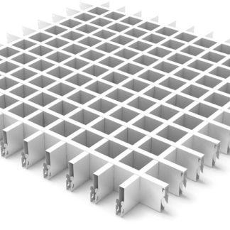 Потолок подвесной грильято Крафт ячейка 50x50