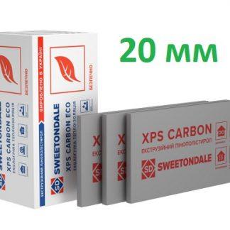 Пенополистирол экструдированный XPS Sweetondale CARBON ECO 1200х600х20 мм 20 шт/уп цена купить в Киеве