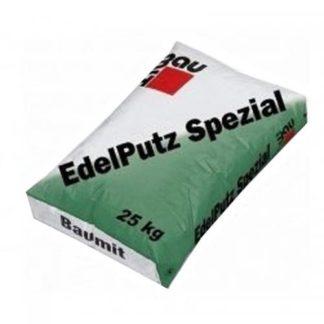 Baumit Edelputz Spezial White 2К (25кг) Декоративная штукатурка Барашек 2мм белая