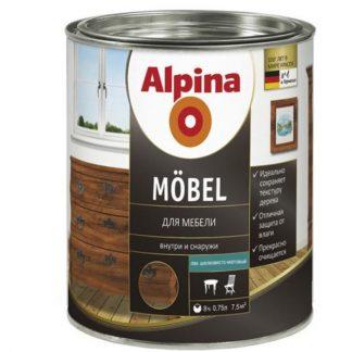 Акриловый лак Alpina Aqua Lack fur Mobel 0,75 л