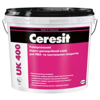 Ceresit UK 400 (14 кг) Клей универсальный для ПВХ и текстильных покрытий