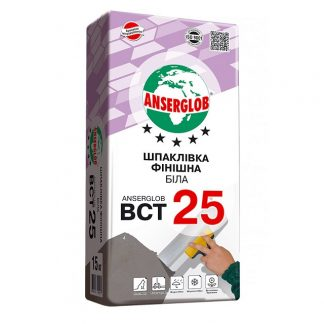 Шпаклевка финишная белая Anserglob BCT 25 (15 кг)