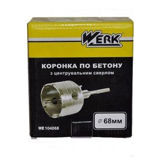 Коронка Werk 68мм SDS-plus с центрирующим сверлом 07х110 мм цена купить в Киеве