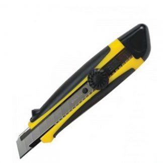 Нож Сталь универсальный резиновые вставки вращающийся фиксатор в блистере 25 мм цена купить в Киеве