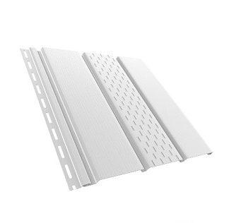 Софит панель перфорированная Bryza 1.22 м2 белая 4х0.31 м цена купить в Киеве