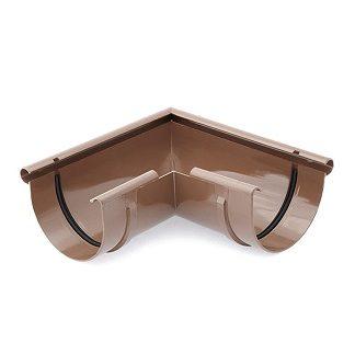 Угол желоба внешний 90 градусов Bryza 125 мм коричневый цена купить в Киеве
