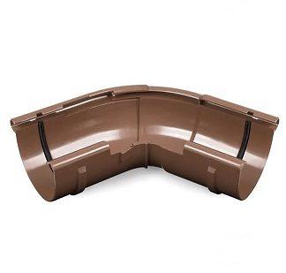Угол желоба внешний регулируемый 120-145 градусов Bryza 125 мм коричневый цена купить в Киеве
