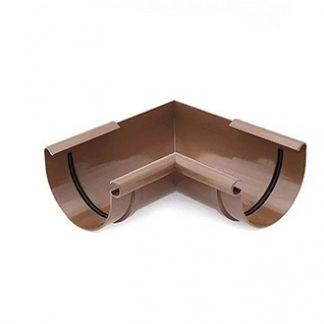 Угол желоба внутренний 90 градусов Bryza 125 мм коричневый цена купить в Киеве