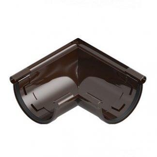 Угол желоба универсальный 90 градусов Ines 120 мм коричневый цена купить в Киеве
