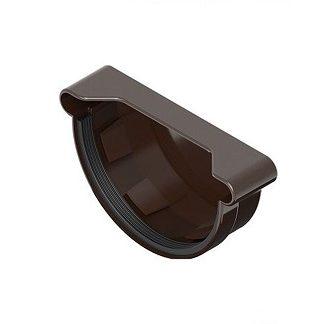 Заглушка желоба универсальная Ines 120 мм коричневая цена купить в Киеве