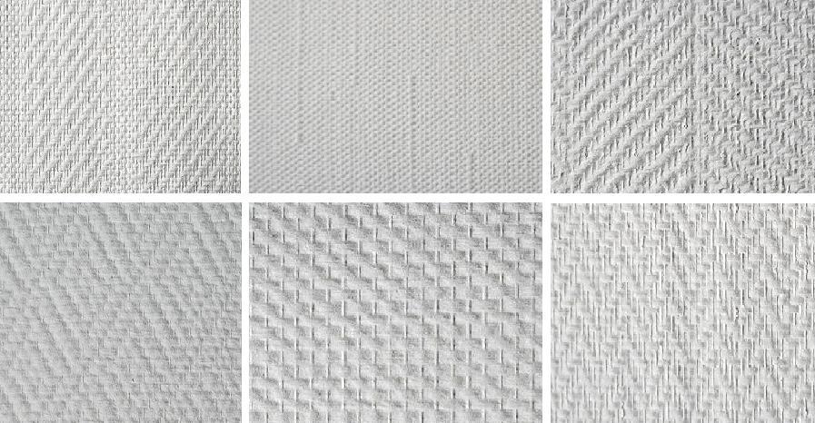 Стеклообои - разновидности фактуры стеклотканевых обоев